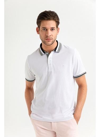 Avva Erkek  Polo Yakalı Düz Tişört A01Y1079 Beyaz